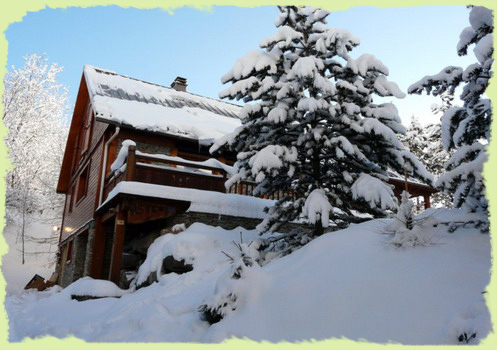 The chalet under the snow